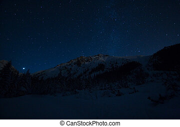 Starry night in mountains - Starry night in Tatra mountains