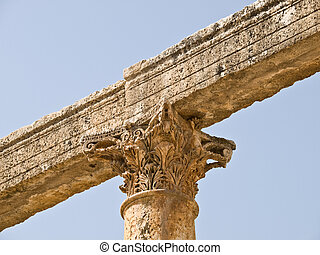 Roman city detail - Main street - cardo detail in Roman...