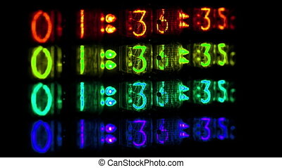 a numerical counter and number sequence filmed with an old...