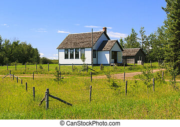 Old School House - Old vintage school house on the Canadian...