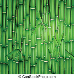 Vector Bamboo Background - Vector Illustration of a Bamboo...