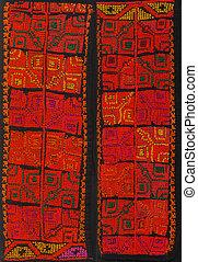 Peruvian Hand Made Woolen Fabric - Blue and white handmade...
