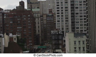 view from the cable car that links roosevelt island with...