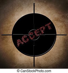 Accept target