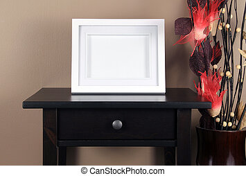 picture frame on table in living room