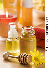 spa - sweet honey for beauty therapy close up shoot