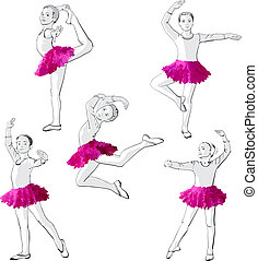 Ballerinas little girls dancing children - Ballerinas little...