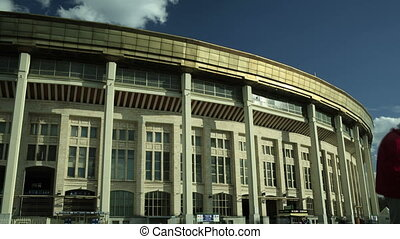 Football stadium time lapse - Luzhniki olympic stadium,...