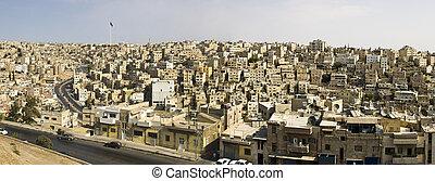 Panorama of Amman, Jordan from Roman citadel.