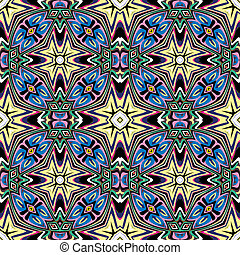 Art nouveau design - seamless vector tile pattern with...