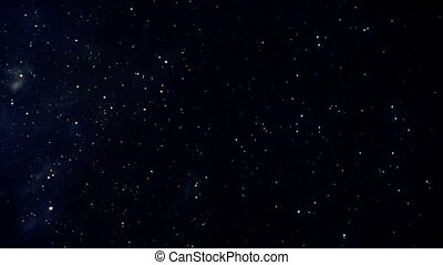 Starfield time-lapse, falling star - Star-field time-lapse,...