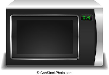 Microwave Oven - Microwave oven, vector eps10 illustration