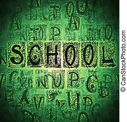 School Doodle seamless background - School Doodle seamless...