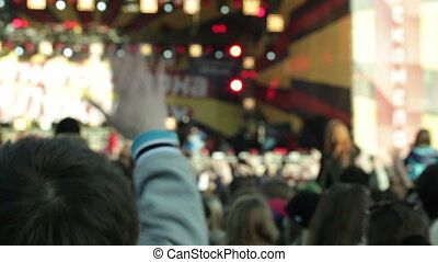 People cheering at concert 1 - People cheering at concert