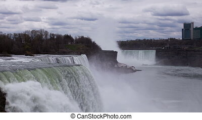niagara falls, usa and canada, super high quality, 4k...