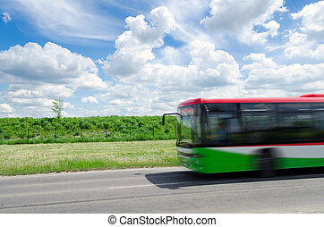 city bus - eco-friendly city bus
