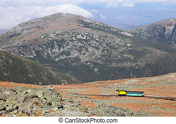 View from Mount Washington - Mount Washington Cog Railroad...