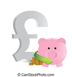 british pound savings profits illustration design over a...
