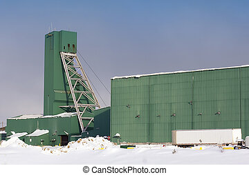 Uranium Mine Site - Green headframe at the McArthur River...