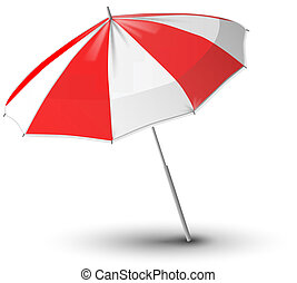 beach umbrella - vector illustration of beach umbrella