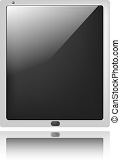 tablet pc - vector illustration of tablet pc