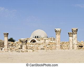 Amman Citadel, Al-Qasr site - Roman citadel in Amman, Jordan...