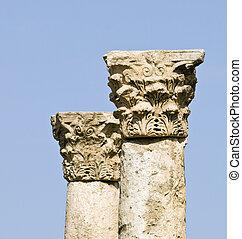 Amman Citadel, Al-Qasr site - Roman citadel in Amman,...