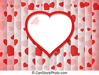 abstract background with red heart - abstract background...