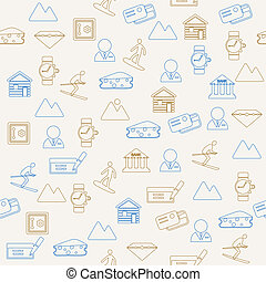 Switzerland seamless pattern