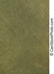 Green leather texture closeup background