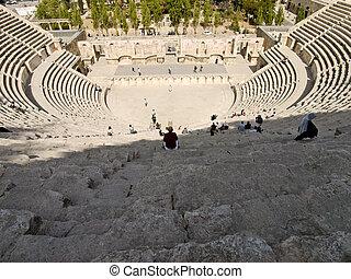 Roman amphitheater in Amman, Jordan - Roman amphitheater in...