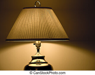 Desk lamp - Golden desk lamp