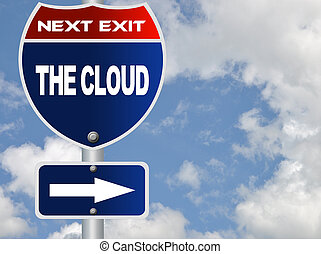 The cloud road sign