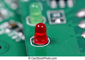 Electronic circuit board - Close up view of electronic...