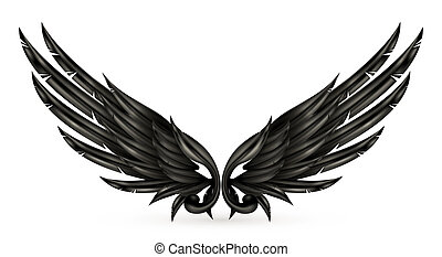Wings black, eps10
