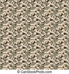 Digital Desert Camouflage - Brown desert colored military...