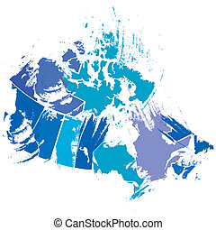 map of Canada - vector illustration of the map of Canada...