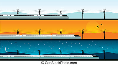 bullet train - vector illustration of a bullet train
