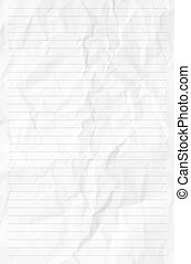 Handmade crumpled paper texture or background High...