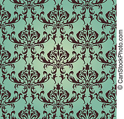 Damask seamless vector pattern. For easy making seamless...