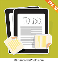 To do list - Vector illustration - EPS10