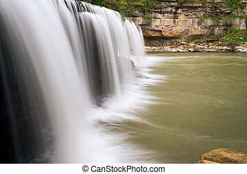 Upper Cataract Falls Sideview - Indiana's Upper Cataract...
