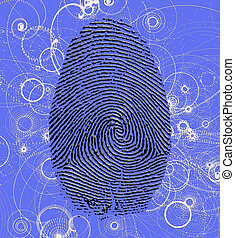 Atomic Fingerprint - Finger print with Atomic particles