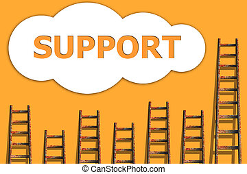 Support,wordding about success of business