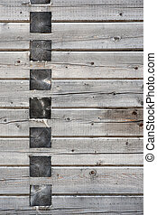 Background with gray weathered wooden wall