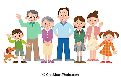 Clip Art Family Clipart Free family illustrations and clipart 143206 royalty free 143206