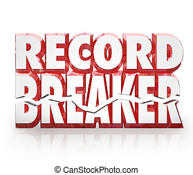 Record Breaker 3D Words Historic Best Score Results - Record...