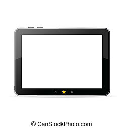 Black tablet pc on white background  vector