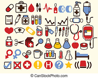 50  Medical and Healthcare Icon - Vector File EPS10