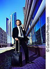 trip business - Modern businessman went on a business trip...